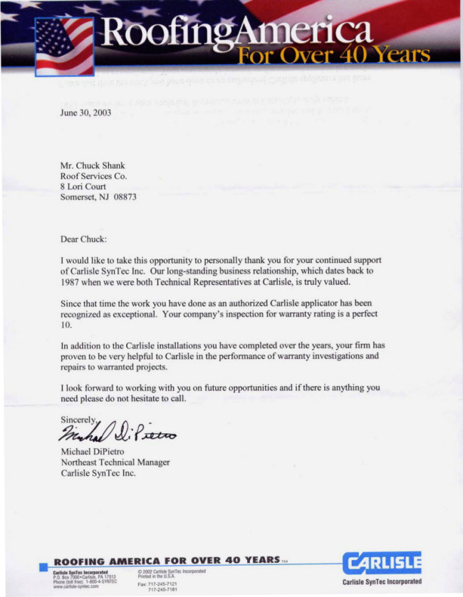 letter of recommendation for business