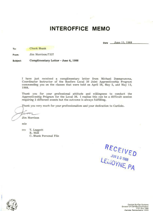 Letter of recommendation for service provider